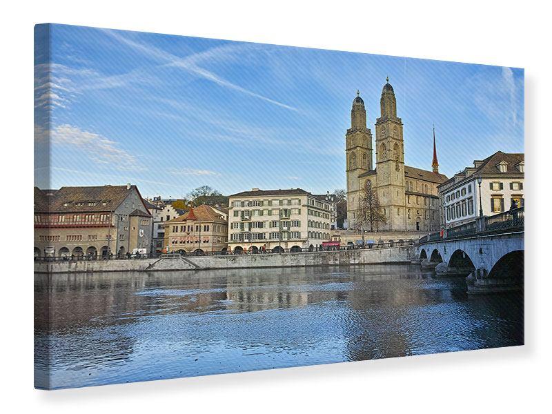 Leinwandbild Die Altstadt von Zürich