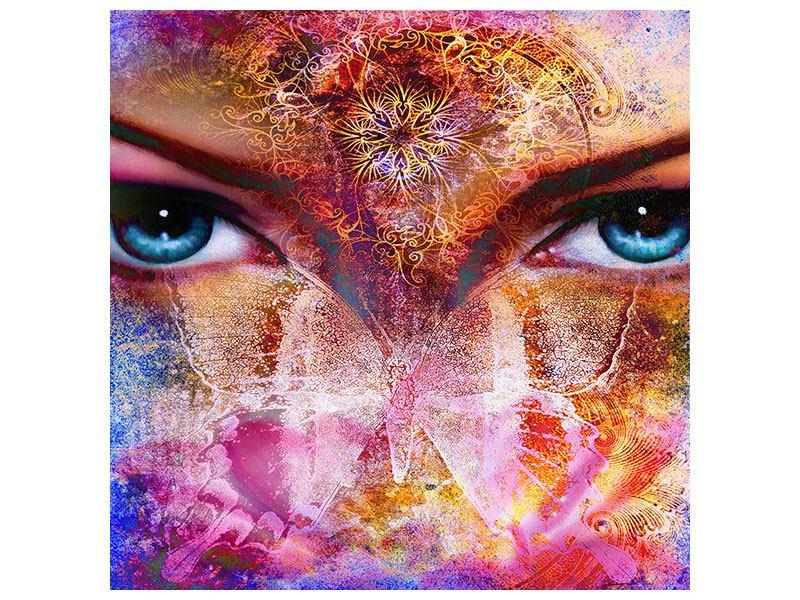Leinwandbild Psychedelic Face