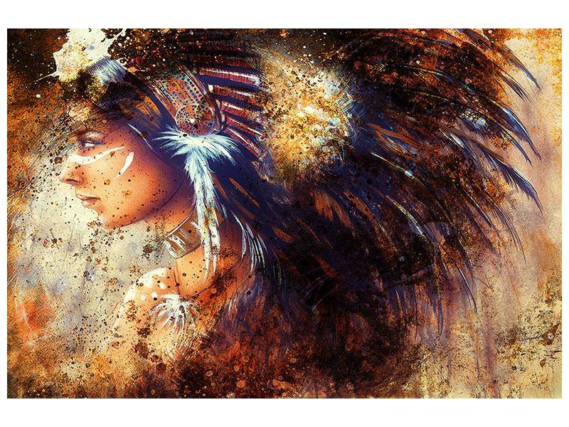 Leinwandbild Indianer