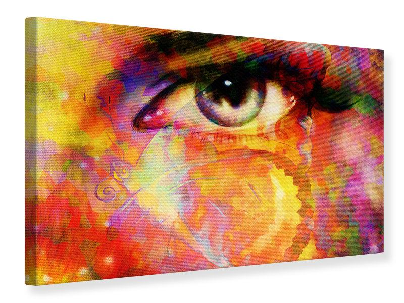 Leinwandbild Das Auge