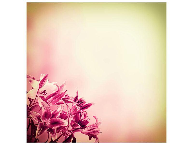 Leinwandbild Colored Lilien
