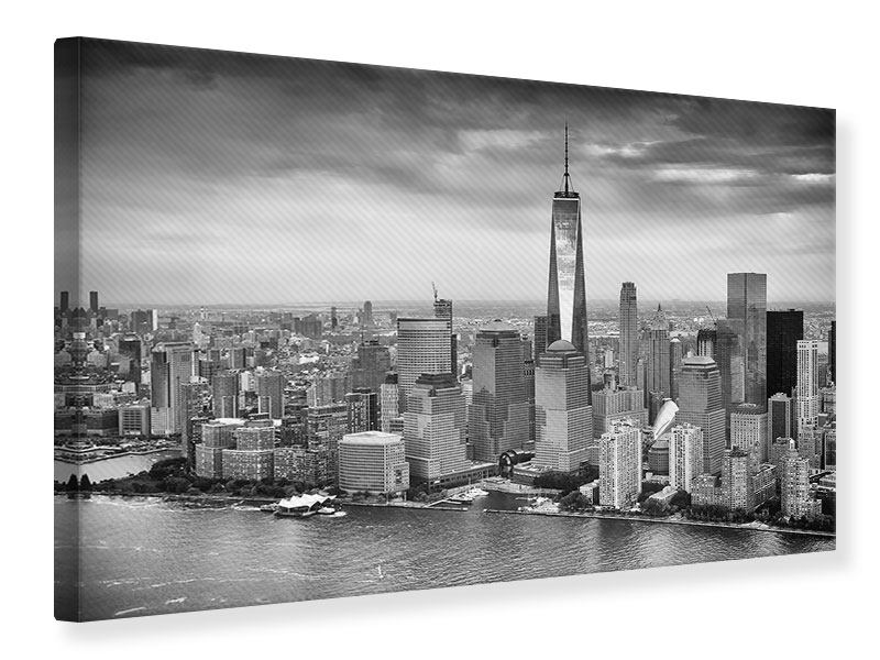leinwandbild skyline schwarzweissfotografie new york. Black Bedroom Furniture Sets. Home Design Ideas