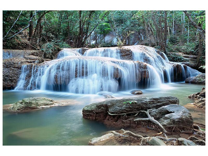 Leinwandbild Ein Wasserfall