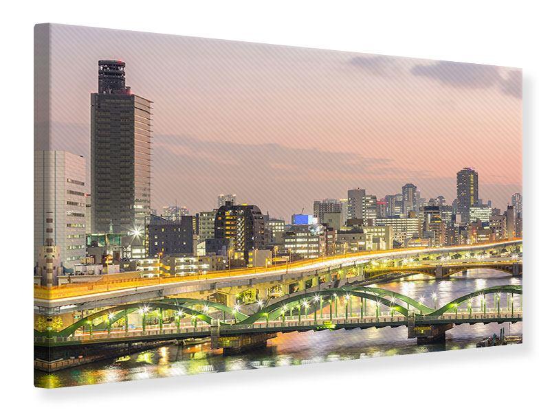 Leinwandbild Skyline Das Lichtermeer von Tokio