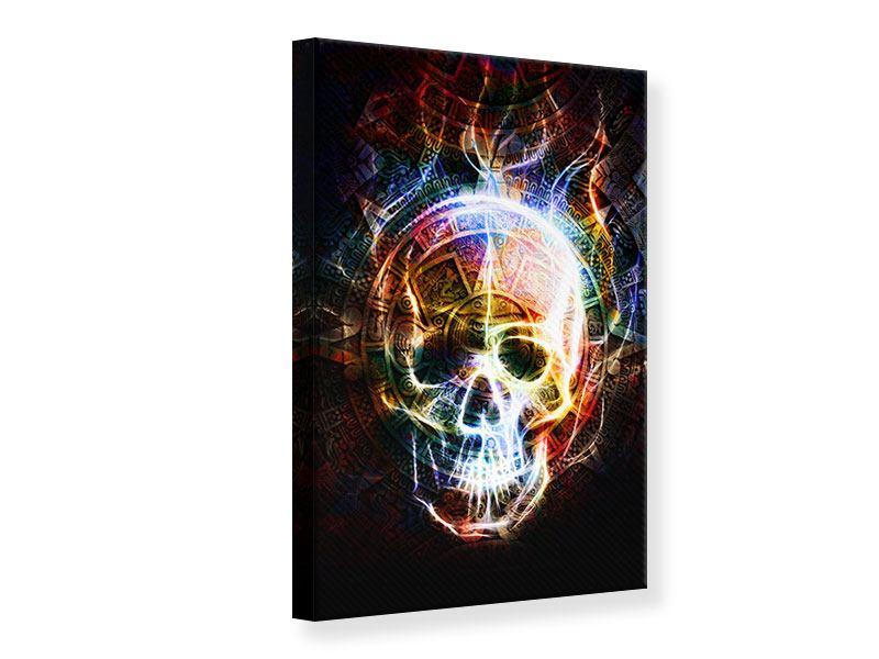 Leinwandbild Psychedelic Skull