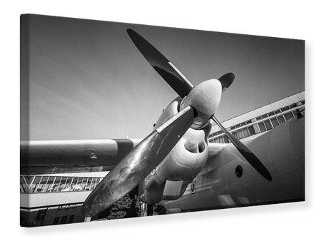 Leinwandbild Nostalgisches Flugzeug