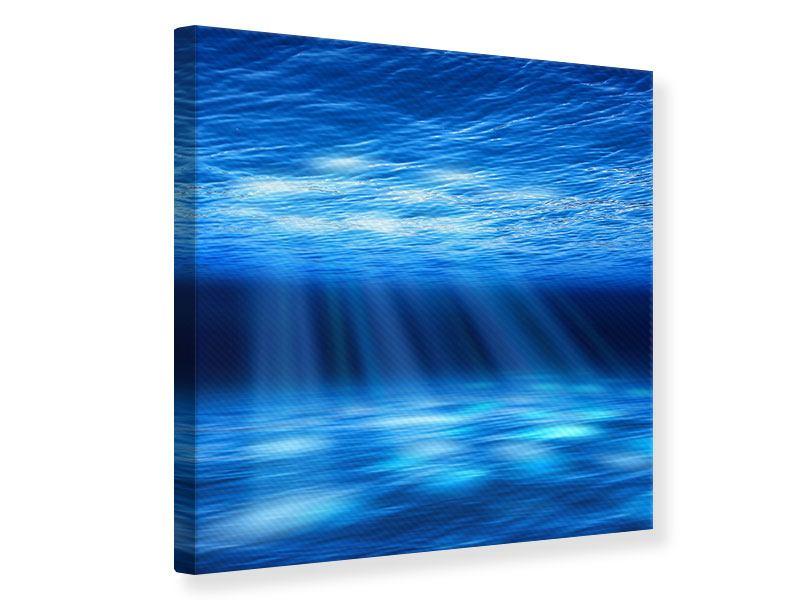 Leinwandbild Licht unter Wasser