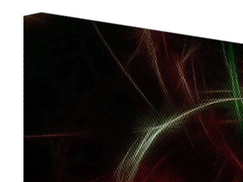 Leinwandbild Fraktales Lichtspektakel