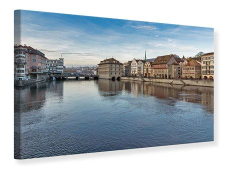 Leinwandbild Kosmopolitisches Zürich