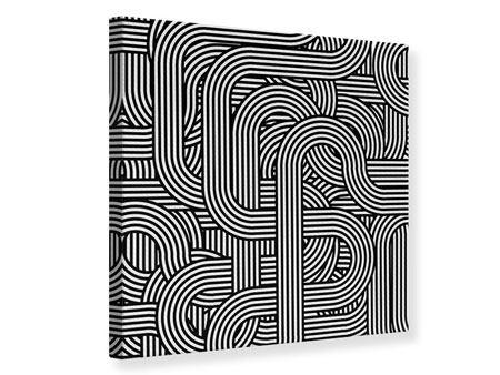 Leinwandbild 3D Black & White