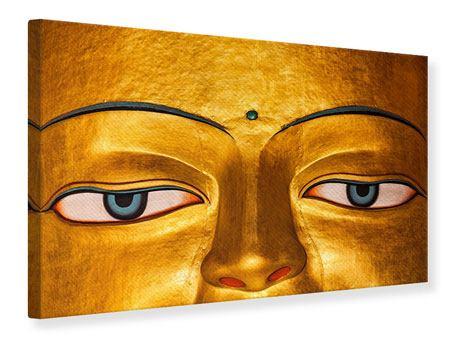 Leinwandbild Die Augen eines Buddhas