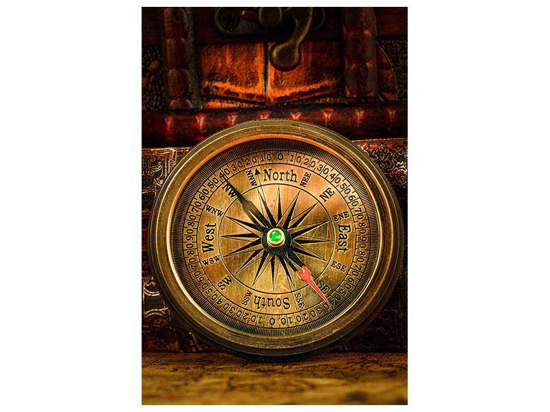 Leinwandbild Antiker Kompass