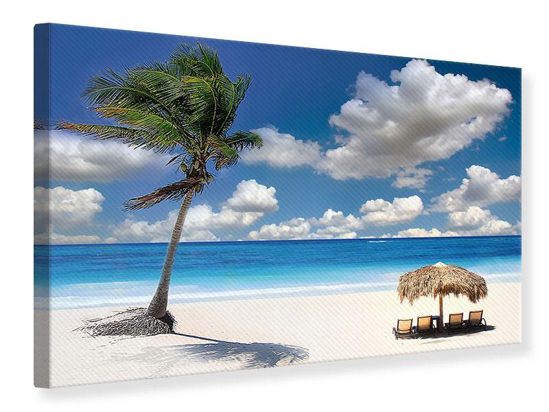 Leinwandbild Strand an der blauen Lagune