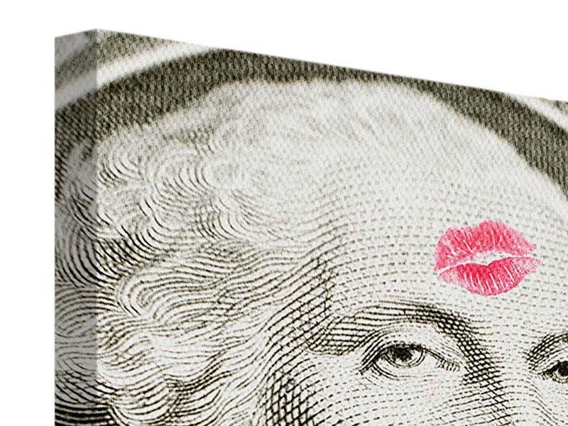 Leinwandbild George Washington Banknote