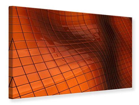 Leinwandbild 3D-Kacheln