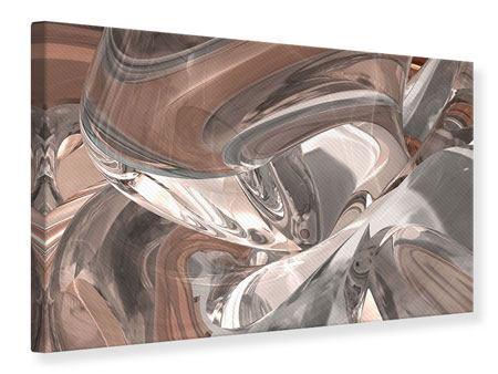 Leinwandbild Abstraktes Glasfliessen