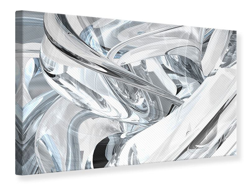 Leinwandbild Abstrakte Glasbahnen