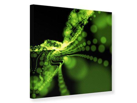 Leinwandbild Grünes Lichterspiel