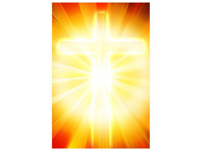 Leinwandbild Heiliges Kreuz im Licht