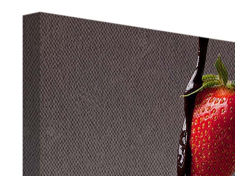 Leinwandbild Erdbeer-Kuss