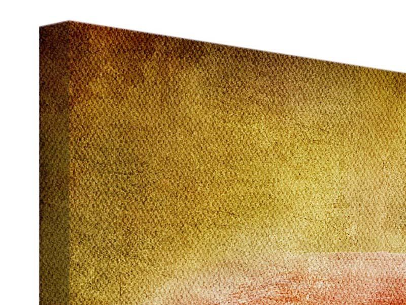 Leinwandbild Ara im Retrostyle