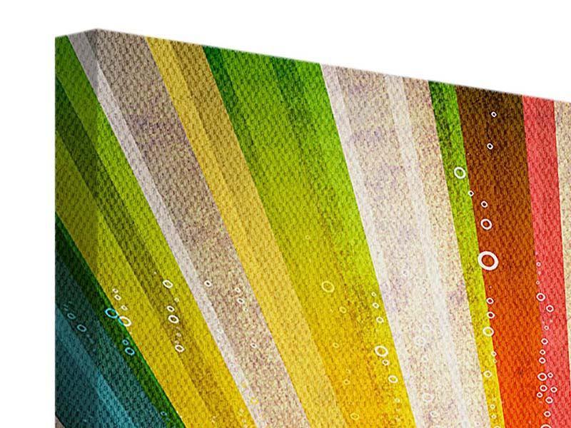 Leinwandbild Abstrakte Farbstrahlen
