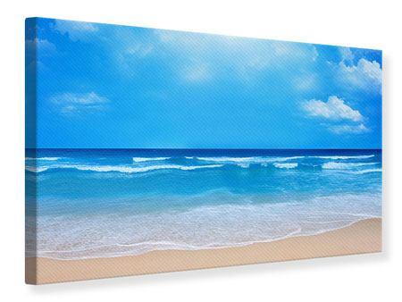 Leinwandbild Sanfte Strandwellen