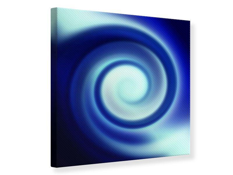 Leinwandbild Abstrakte Blaue Wirbel