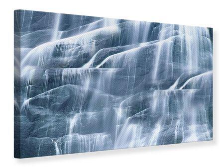 Leinwandbild Grossartiger Wasserfall