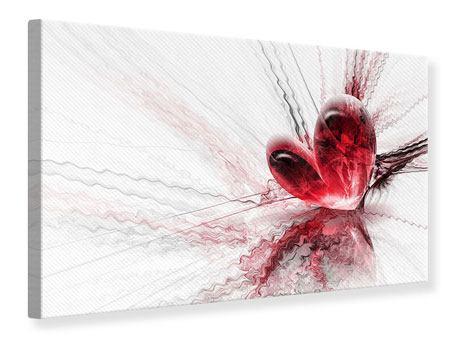 Leinwandbild Herzspiegelung