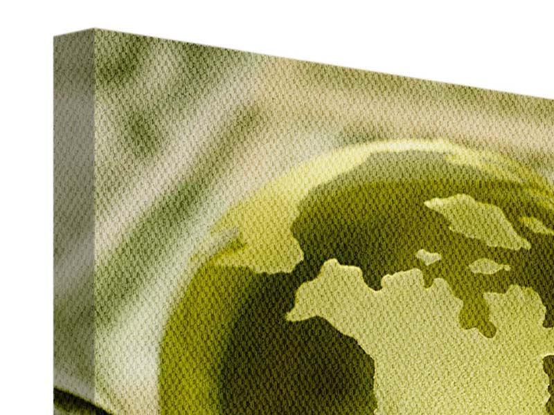 Leinwandbild Geld regiert die Welt