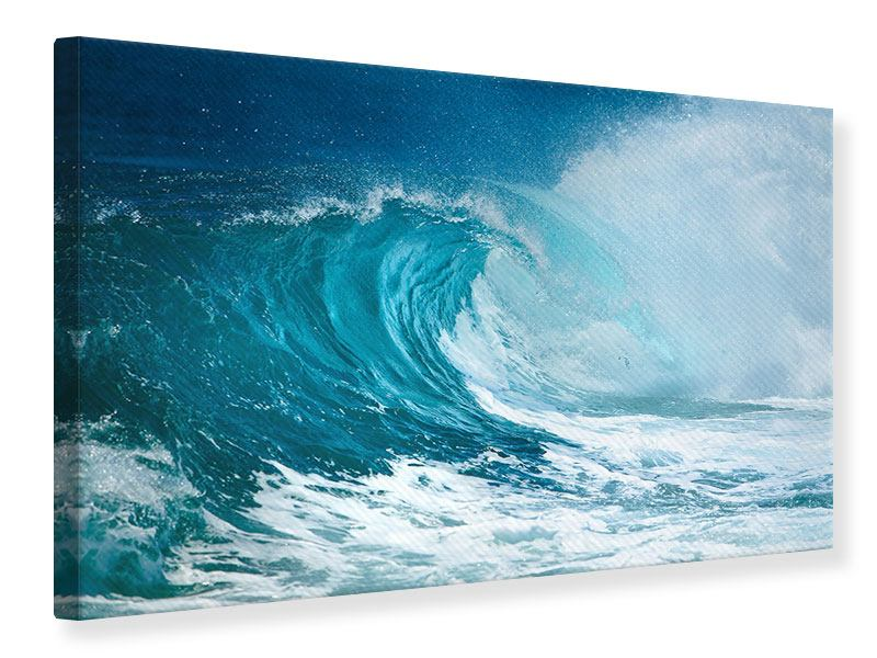 Leinwandbild Die perfekte Welle