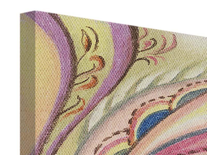 Leinwandbild Paisley-Malerei
