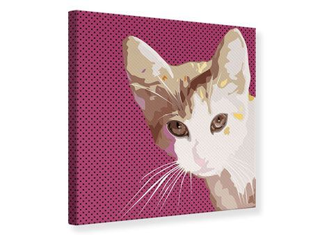 Leinwandbild Pop Art Katze