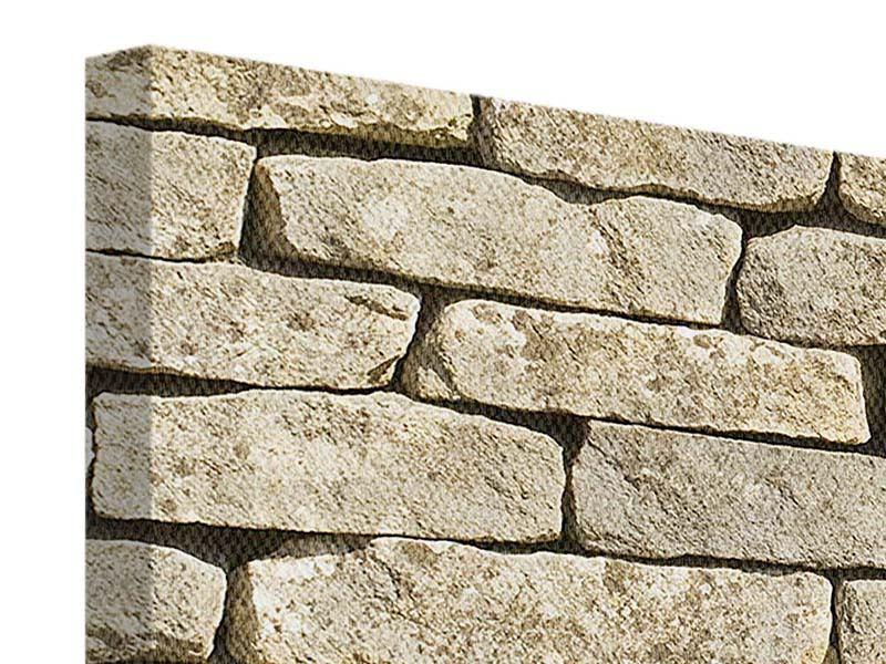 Leinwandbild Alte Mauer