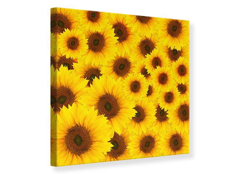 Leinwandbild Ein Strauss Sonnenblumen