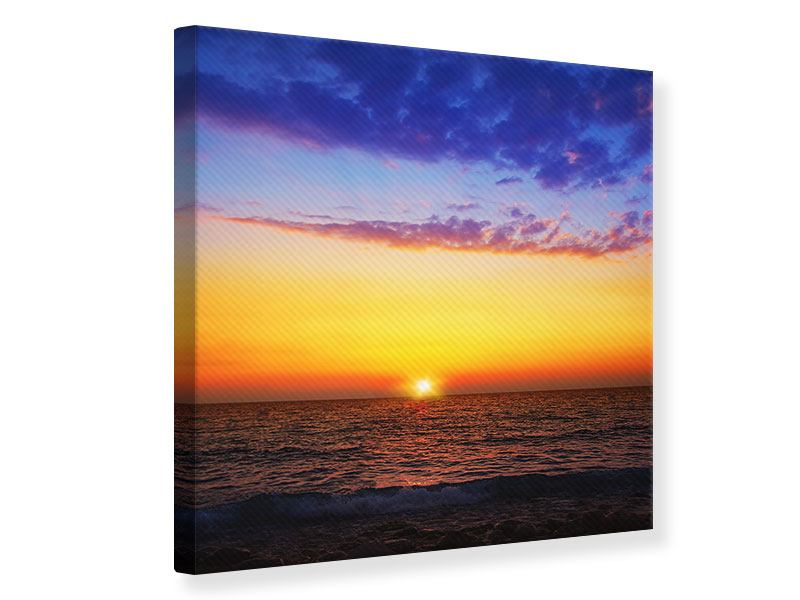 Leinwandbild Leuchtender Sonnenuntergang