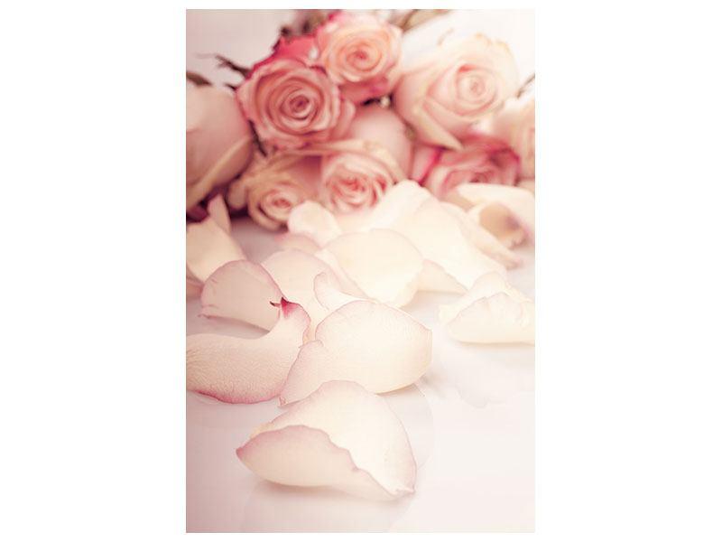 Leinwandbild Rosen-Blütenblätter
