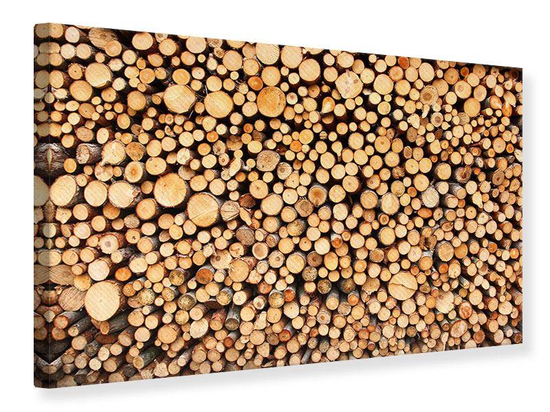 Leinwandbild Holzstämme