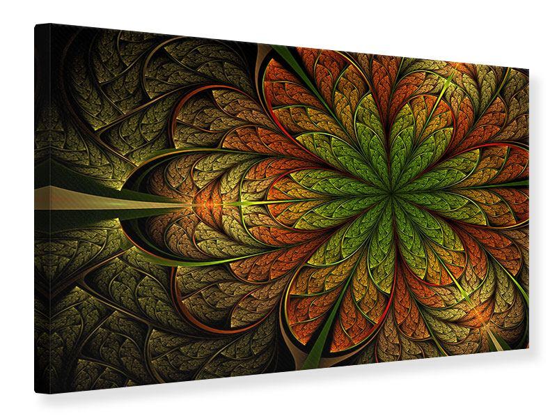 Leinwandbild Abstraktes Blumenmuster