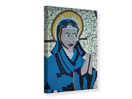 Leinwandbild Jungfrau Maria Mosaik
