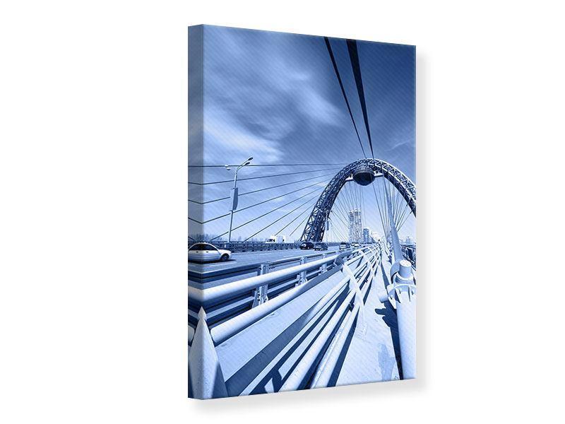 Leinwandbild Moderne Hängebrücke