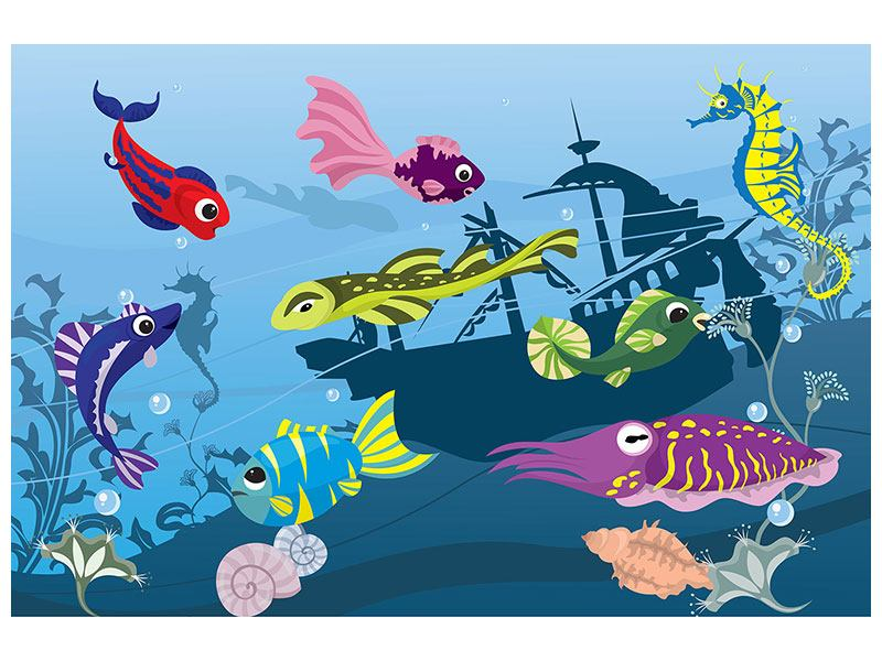 Leinwandbild Fische im Wasser