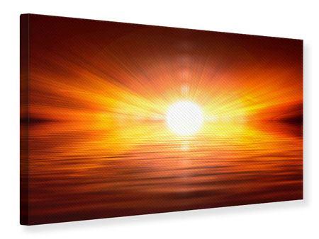 Leinwandbild Glühender Sonnenuntergang