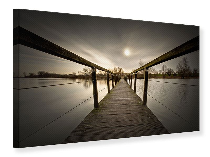 Leinwandbild Die Holzbrücke