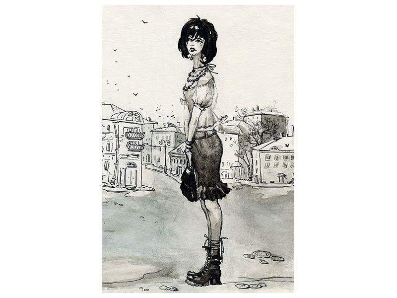 Leinwandbild Fashion Girl