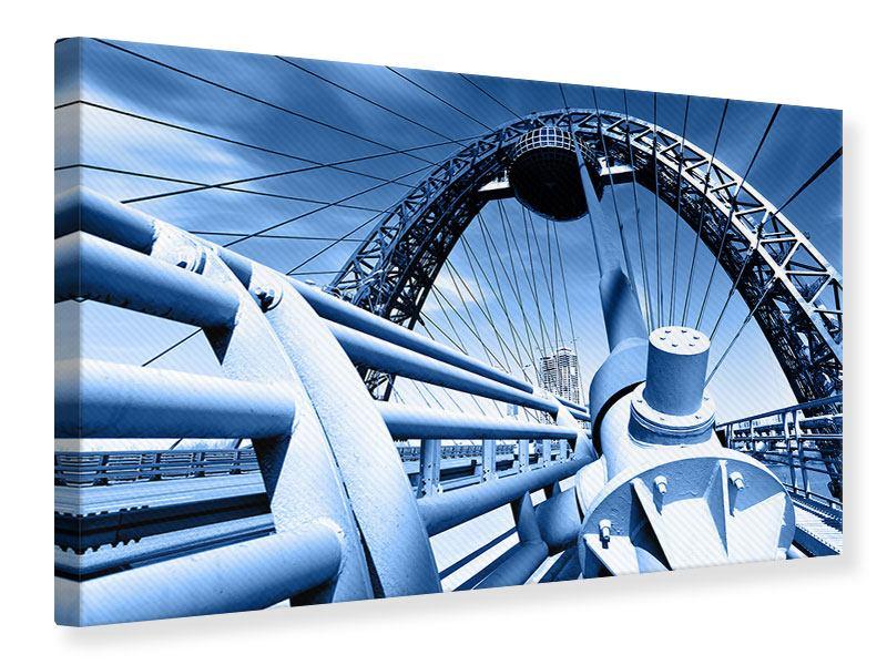 Leinwandbild Avantgardistische Hängebrücke