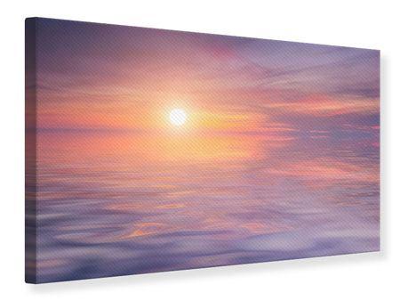 Leinwandbild Sonnenuntergang auf See