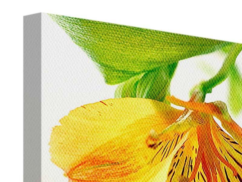 Leinwandbild Fliessende Orchideenblüte