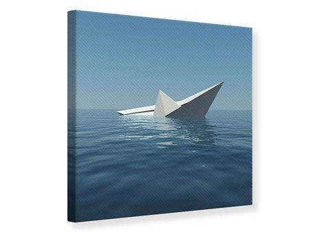 Leinwandbild Papierschiffchen